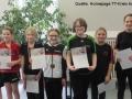 Schülerinnen B, Sina Jäckels in der Mitte